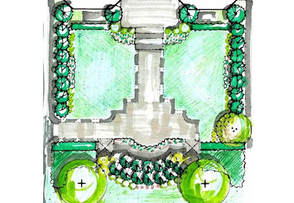 Etobicoke Residence Landscape Concept Plan