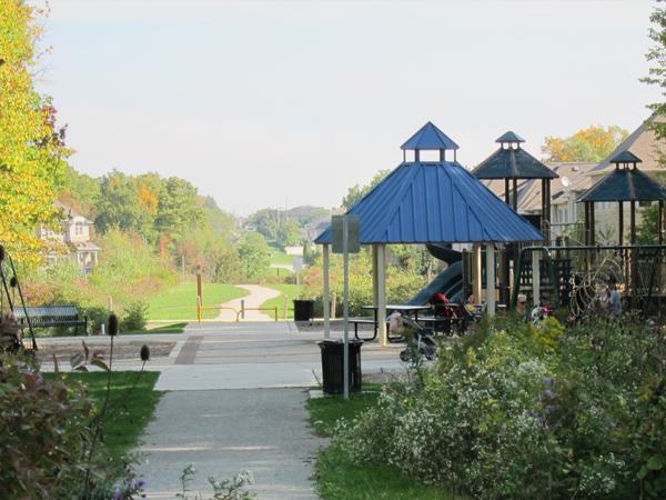 Bronte Creek Phase 2 Valley Naturalization pavilion & path