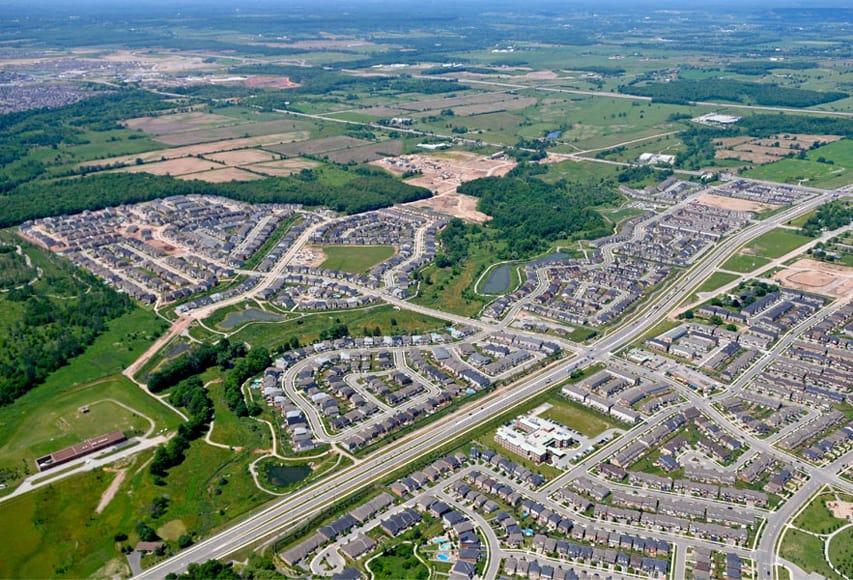 Bronte Creek aerial view, Oakville