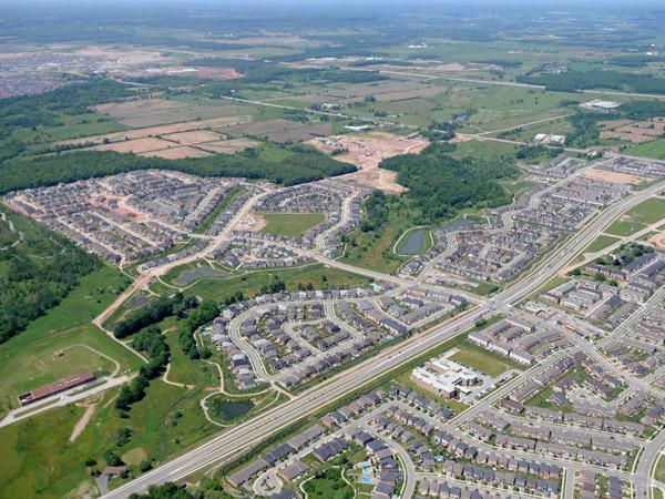 Bronte Creek Aerial view