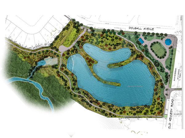 Caledon District Park storm water retention pond