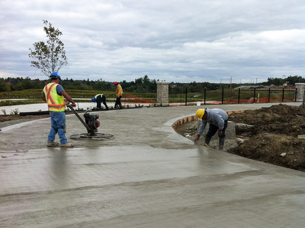 Caledon District Park - floating concrete - ice rink