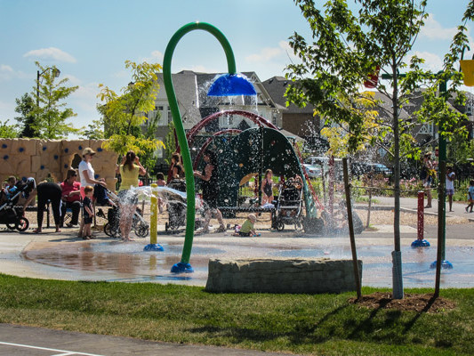 Southfields Phase 2 Community Park water play 2