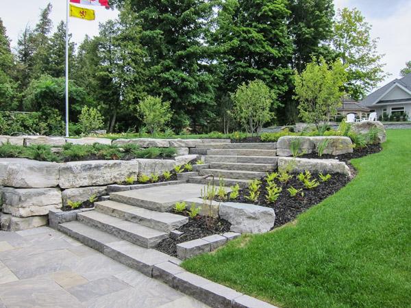 Lake Simcoe residence steps