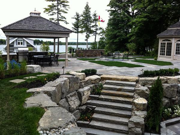 Lake Simcoe residence step detail