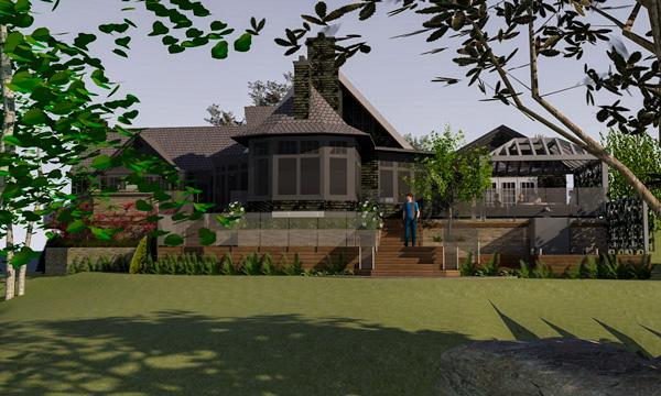 Muskoka Residence - 3D Concept - front