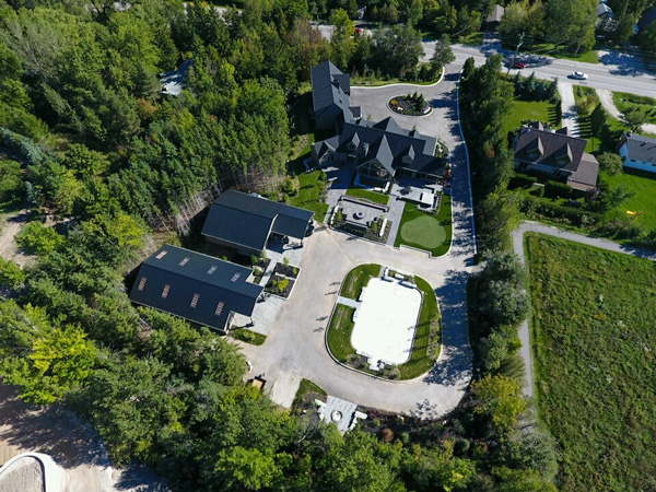 Blue Mountain Residence Aerial view